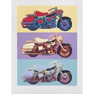 Friedbert Renbaum-Harley Davidson-1990 Serigraph-SIGNED