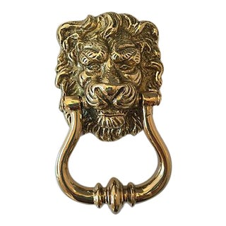 Portuguese Brass Lion Door Knocker