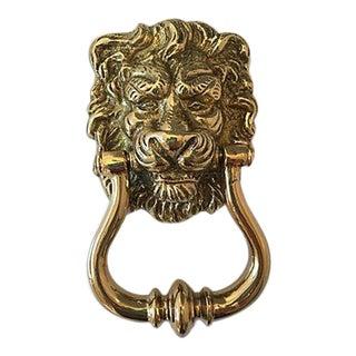 Portuguese Brass Lion Door Knocker