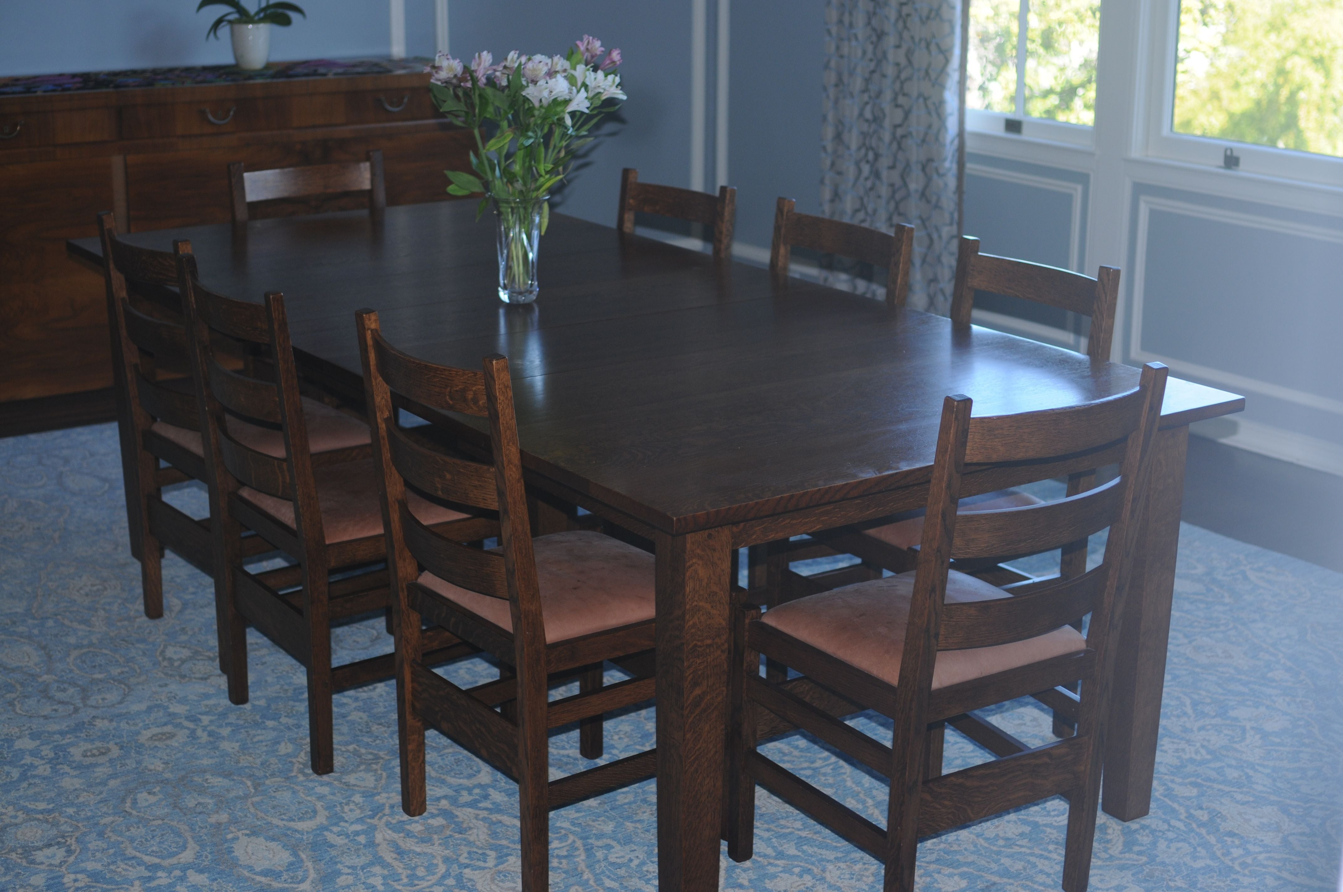 handcrafted dining room table chairish