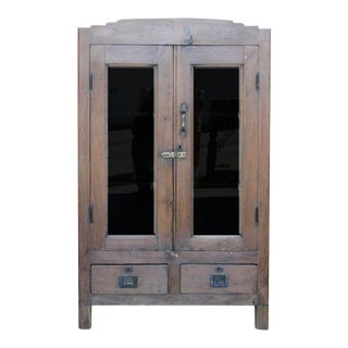 Antique British Colonial Display Cabinet