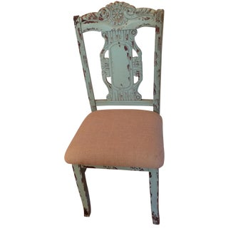 French Country Rustic Wood Chair