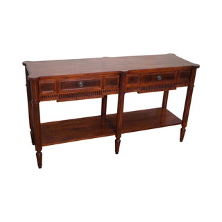 Sherrill Occasional Walnut French Style Console Table