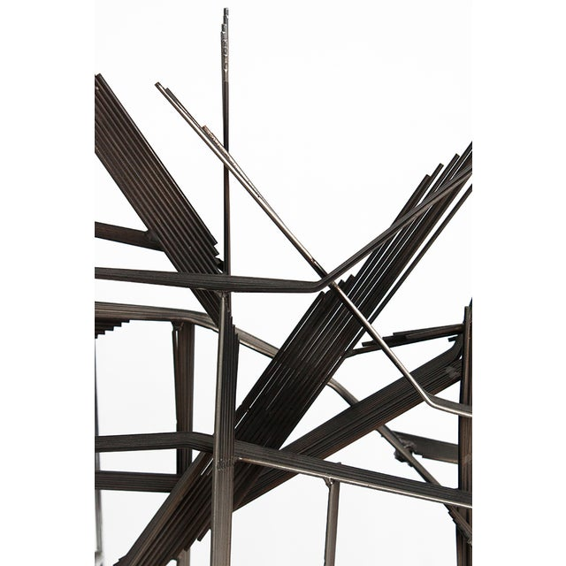 Curtis C Jere Chrome Burst Brutalist Sculpture - Image 6 of 10