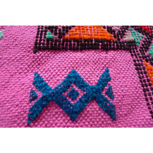MoroccanTribal Motif Small Pink Rug - 1′6″ × 3′ - Image 4 of 8