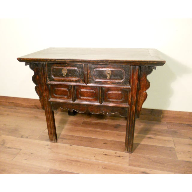 19th-Century Chinese Ming Cabinet - Image 2 of 9