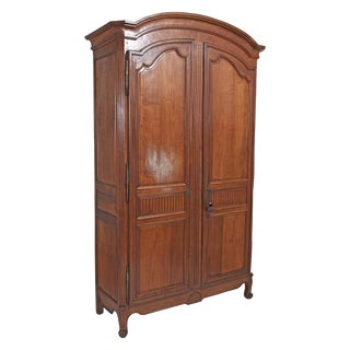 Louis XVI Walnut Chateau Armoire