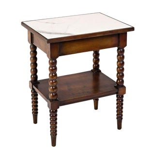Sarreid LTD Calacatta Marble Top Side Table