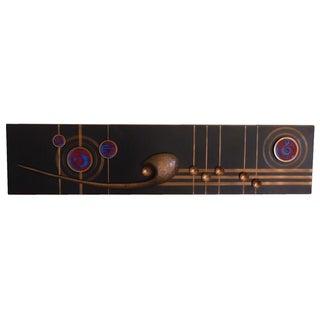 Vintage Copper & Enamel Sheet Music Wall Sculpture