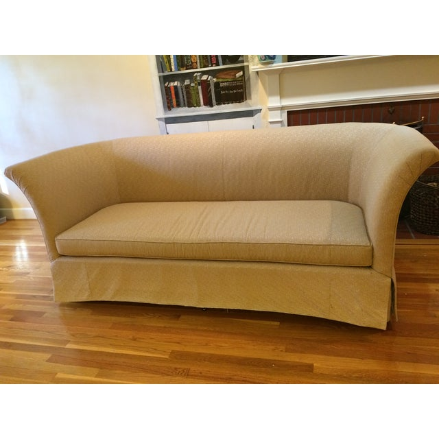 Beacon Hill Curved-Back Yellow Tuxedo Sofa - Image 2 of 6