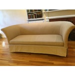 Image of Beacon Hill Curved-Back Yellow Tuxedo Sofa