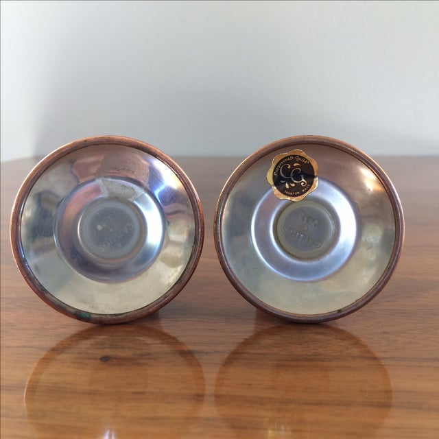 Copper Salt and Pepper Shakers - A Pair - Image 6 of 10