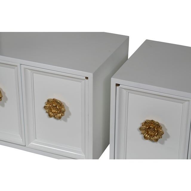 Hollywood Regency End Tables - Pair - Image 3 of 4