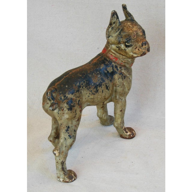 1940s Cast Iron Boston Terrier Dog Doorstop - Image 9 of 9