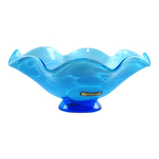 Mantorp Mid-Century Blue Glass Bowl