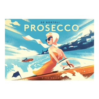 Danish Modern Alcohol Poster, Prosecco