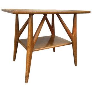 Mid Century Paul Laszlo Style Wood Side Table