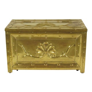 19th Century Swedish Brass Wood Box