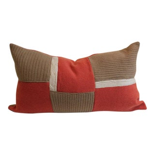 100% Cashmere Patchwork Throw Pillow