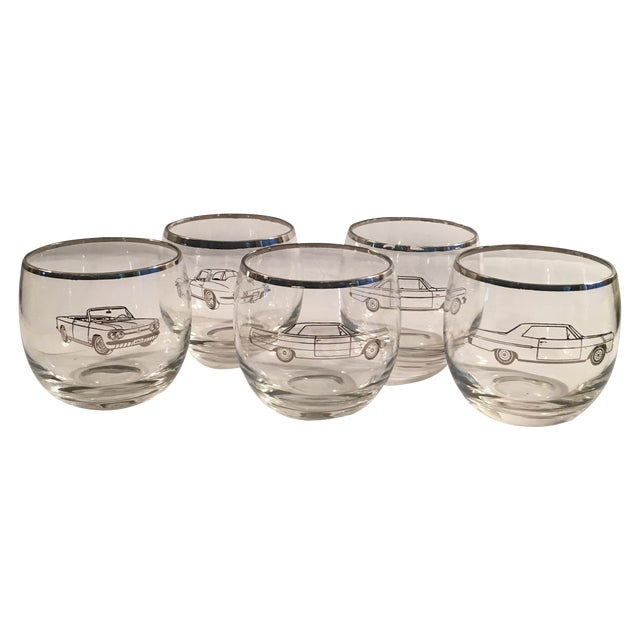Classic 60's Chevy Roly Poly Glasses - Set of 5 - Image 1 of 5