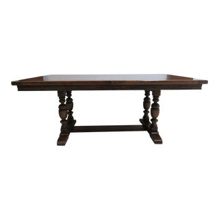 Ethan Allen Charter Oak Jacobean Conference / Dining Table