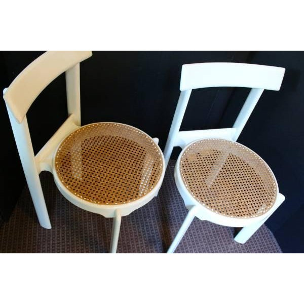 Midcentury Italian White Lacquered Chairs - A Pair - Image 8 of 10