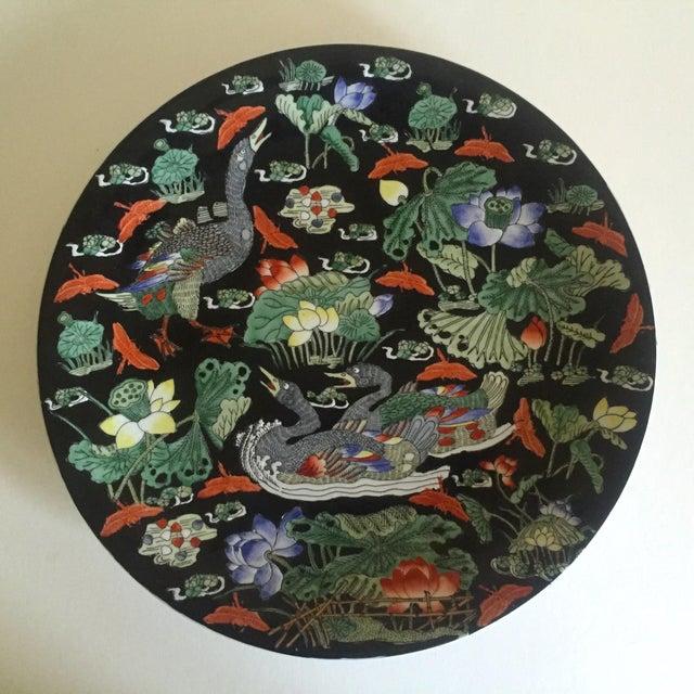 Vintage Asian Swan Platter - Image 2 of 8