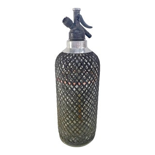 Antique Mesh Seltzer Bottle