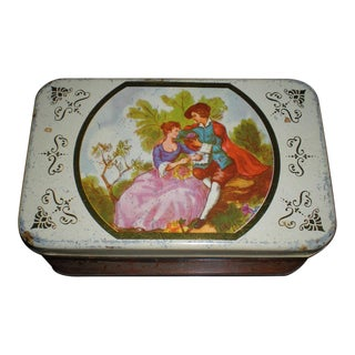 Vintage Cameo Tin Box