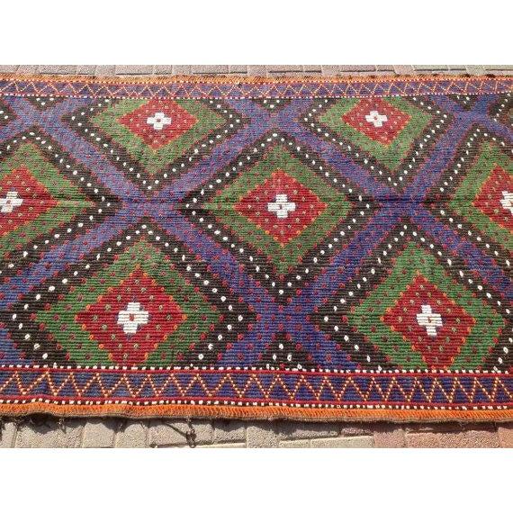 """Image of Large Vintage Turkish Kilim Rug - 5'11"""" x 11'9"""""""