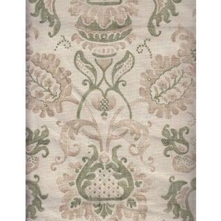 Ramm Fontain Green & Cream Floral Fabric Print - 2.625 Yards