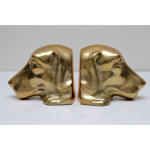 Solid Brass Labrador Bookends - A Pair - Image 3 of 8