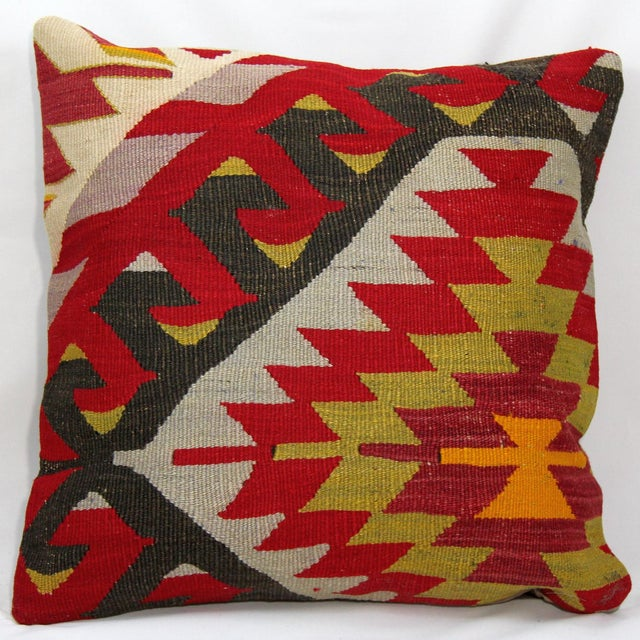 Turkish Handmade Kilim Pillow - Image 2 of 6