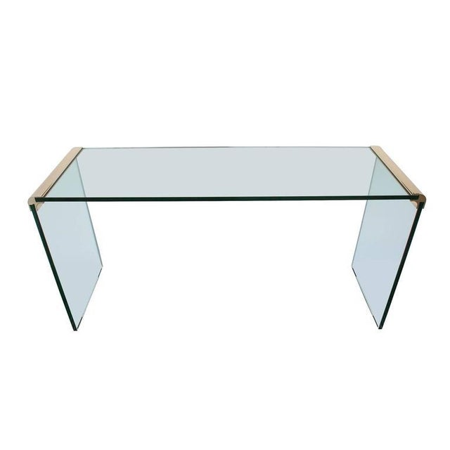Leon Rosen for Pace Waterfall Console Table-Pair Available - Image 2 of 6