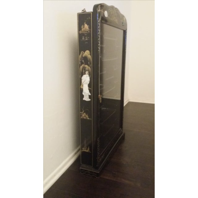 Black Lacquer Chinese Curio Display Cabinet - Image 3 of 6
