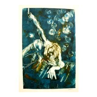 Falling Stars Monoprint by Martha Holden