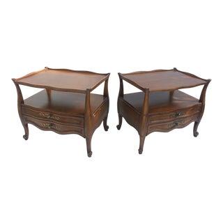 Vanleigh Furniture Hollywood Regency Nightstands - A Pair