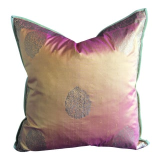 Silk Block Printed Pillow