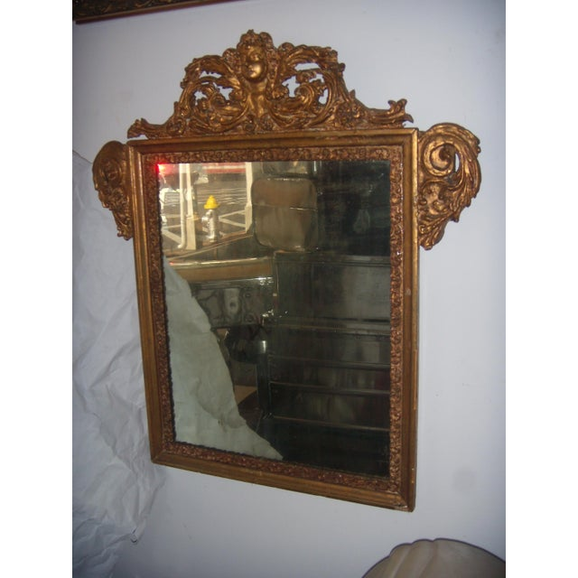 Antique Italian Gilt Cherub Mirror - Image 3 of 10
