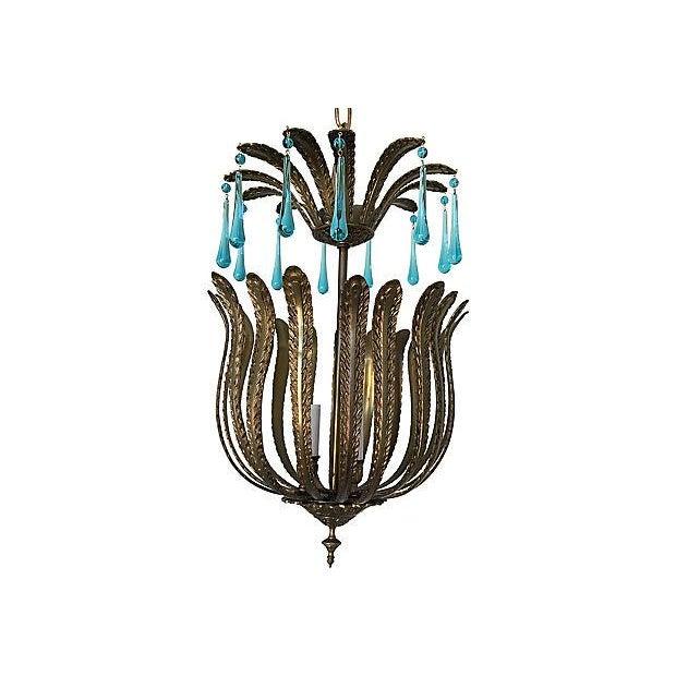 1960s Brass Acanthus Lantern - Image 2 of 6