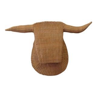 Stylized Hand Woven Bull Head