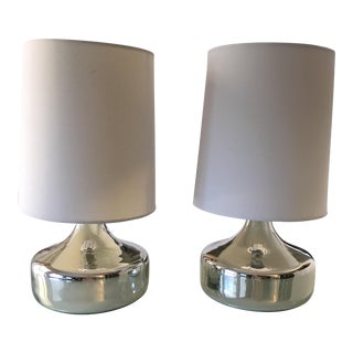 West Elm Metallic Perch Table Lamps - A Pair