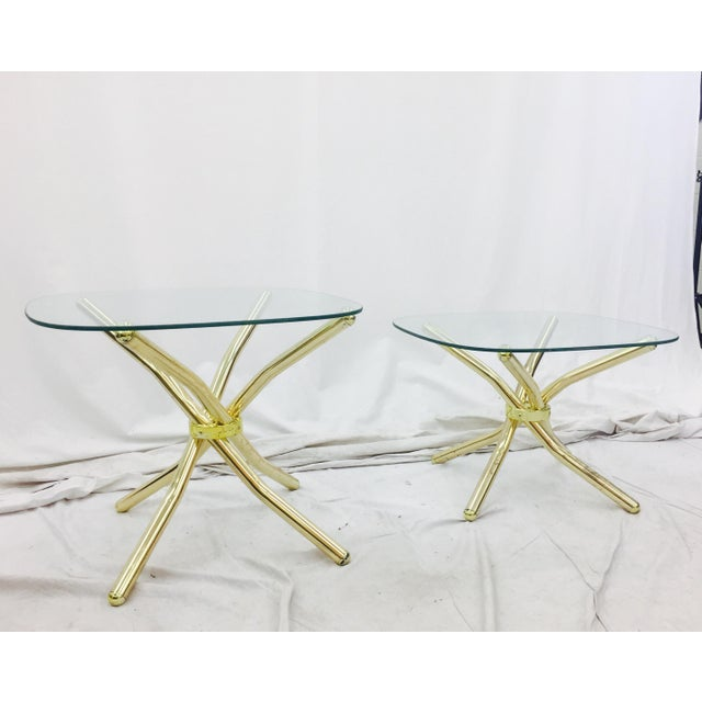 Gold Knot Side Tables - A Pair - Image 5 of 8