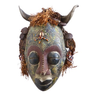 Bamileke Ceremonial Mask with Horns