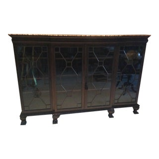 Traditional Wooden Chippendale Bookcase