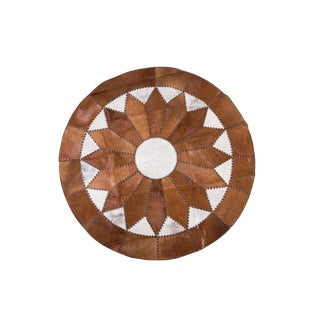 """Cowhide Patchwork Round Area Rug - 5'10""""x5'10"""""""