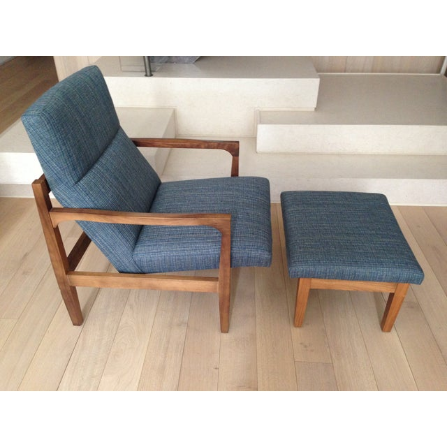 Image of Room and Board Lounge Chair With Ottoman