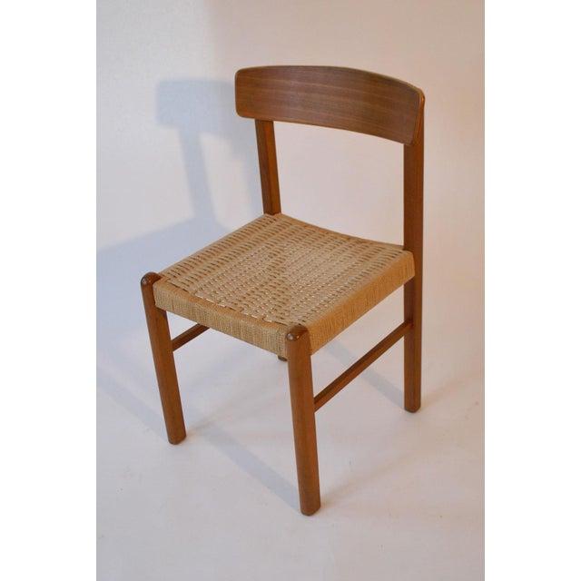 Image of Vintage Teak & Danish Cord Dining Chairs - Set/4