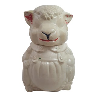 Vintage Lamb Cookie Jar