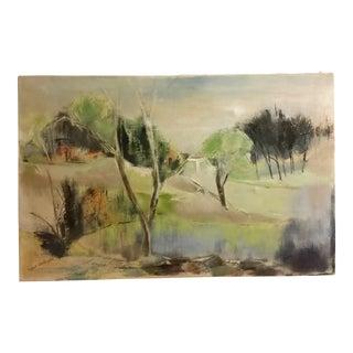 Mid-Century Impressionist Landscape Oil Painting